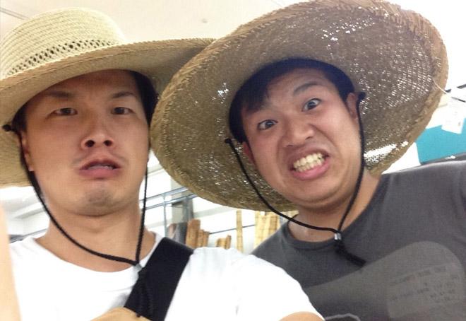 農夫の麦わら帽子