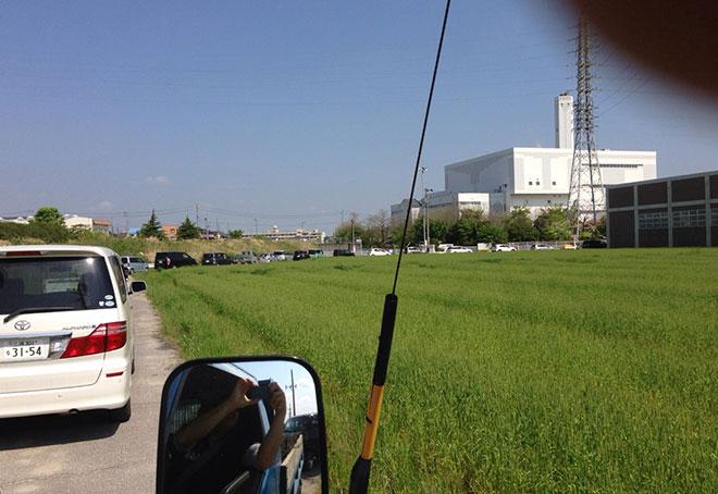 休日の碧南のゴミ処理場は大渋滞